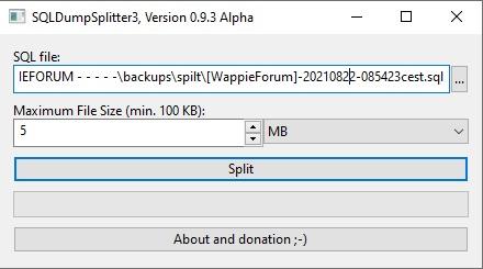 SQL splitter tool